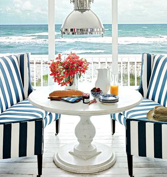 Greg Normans Hobe sound beach house porch