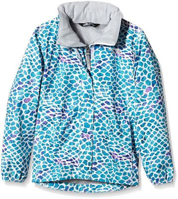 The North Face Girls' Novelty Resolve Waterproof Rain Jacket will brighten up any rainy day.  This mesh-lined waterproof rain jacket features reflective logos to keep her visible and safe in low light.
