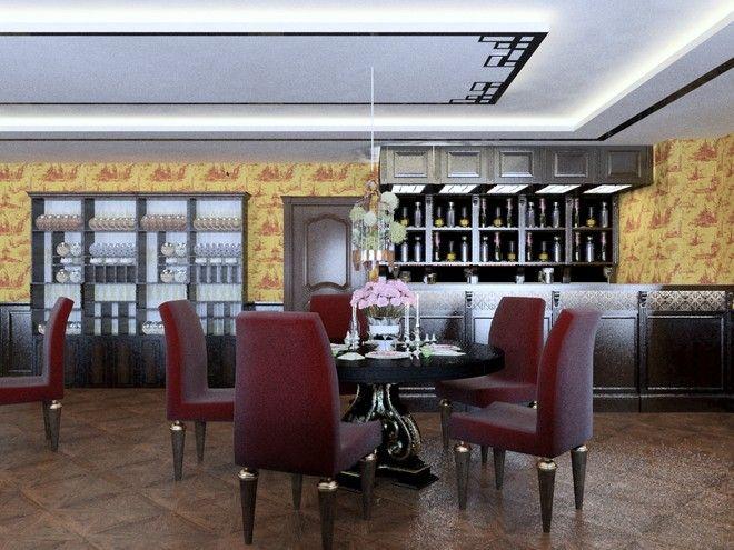 Интерьер китайского ресторана на ул. Разъезжая, 140 кв.м.