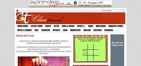 I Salotti del Gusto su Class Travel http://www.classtravel.it/?p=23286