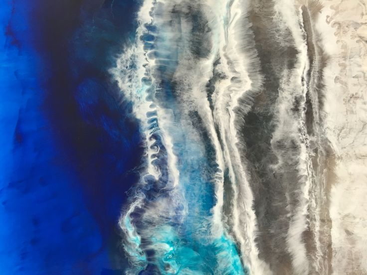 A section of Deep Blue just completed. Resin art 157cm X 92cm available through the Martine gallery.