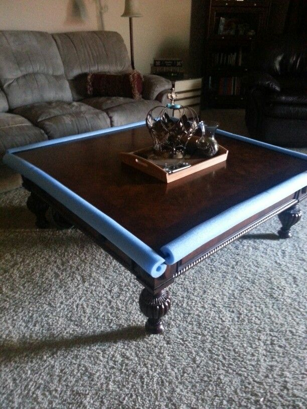 Coffee Table Per Pad For My Grandson Swimming Noodle 4 At Dollar Tree Compare To 40 Baby Pinterest And