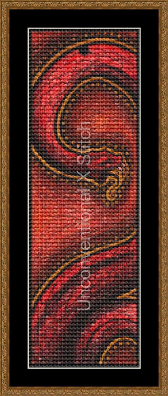 Tribal snake cross stitch pattern by UnconventionalX on Etsy