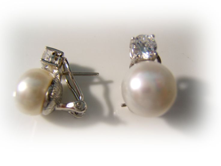 Comprar Joyas y Relojes Baratos, Ofertas, Descuentos Outlet Joyería - Pendientes tu y yo plata circonita y perla cultivada