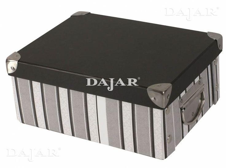 Pudełko tekturowe Pasy Black ARRANGER 39 x 28 x 19 cm  http://sklep.dajar.pl/pudelko-tekturowe-pasy-black-39-x-28-x-19-cm-arranger