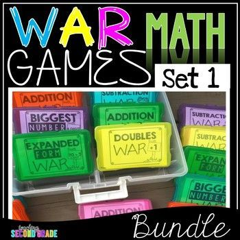 Want to add a little fun into learning about different math skills? Then this WAR game is just what your kiddos need.