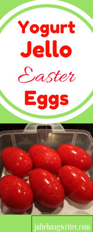 Yogurt Jello Easter Eggs is an easy recipe your family will enjoy on Easter. This is a super easy recipe that will add some fun color and tasty flavor to your Easter holiday spread. Add this to your table and your kids will gobble them up. They are a gorgeous color red using cherry or raspberry Jello, but any flavor Jello could be used to add a variety of colors. I love making these eggs at Easter and my boys look forward to Jello eggs each year. With yogurt added in, these eggs add protein…