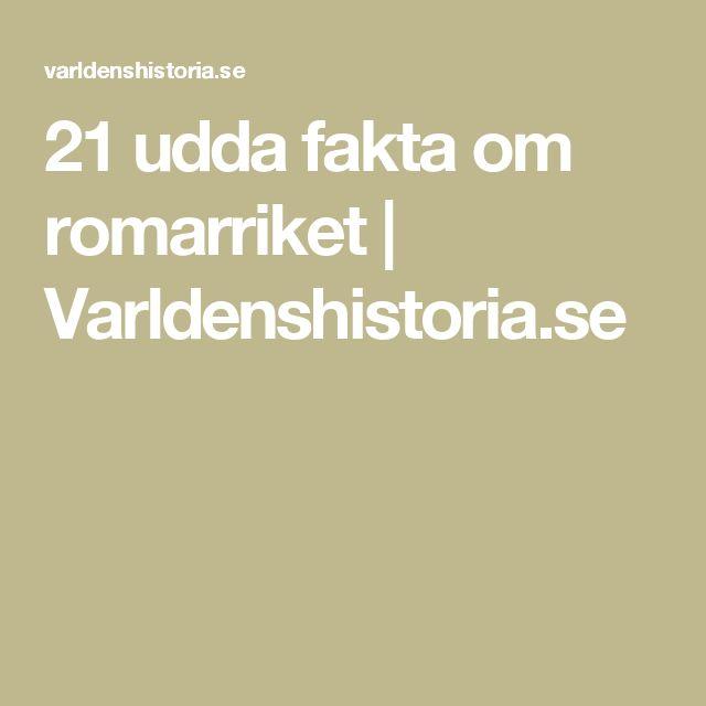 21 udda fakta om romarriket | Varldenshistoria.se