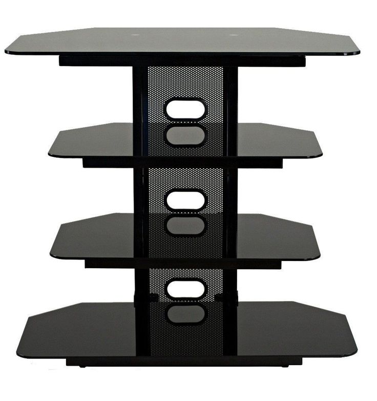 "TransDeco TD510CB Multifunction AV Stand For Up To 35"" LCD Or LED TVs"