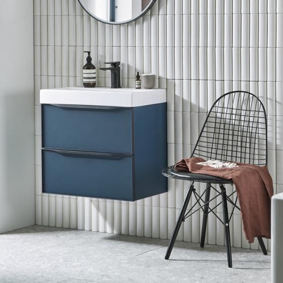 Roper Rhodes Frame 600mm Derwent Blue Wall Hung Vanity Unit Basin Vb4u Blue Bathroom Vanity Vanity Units Wall Hung Vanity