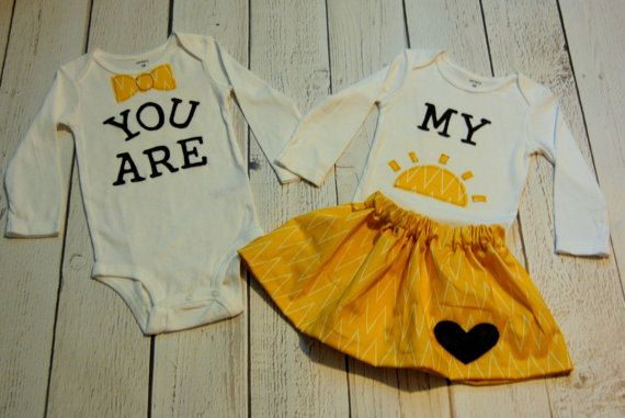 Swanky Baby Twin Girl/Boy Set of two coordinating by SwankyShank