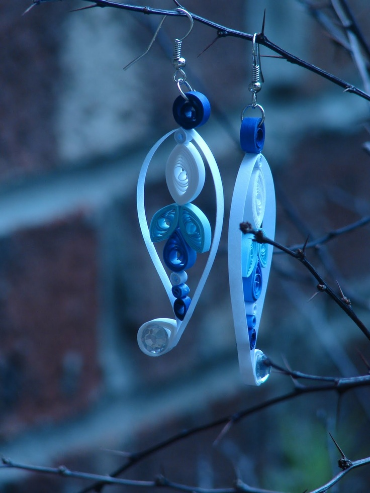 quilled earrings | Quilled earrings and necklace
