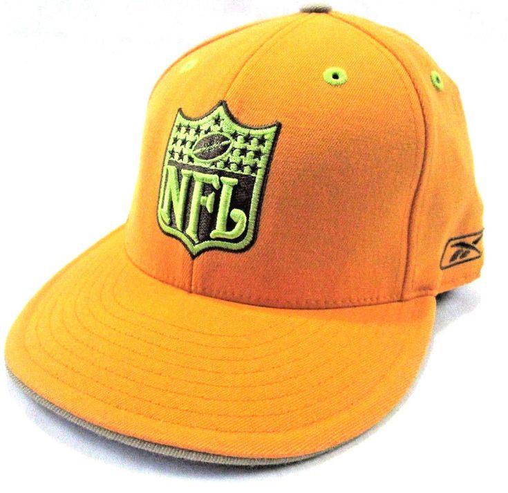 #NFL #Embroidered #Logo #HAT Yellow Fitted Size 7 5/8 #Football #CAP #REEBOK #KOLORS #REEBOKKOLORS #Baseball #BaseballCap #BaseballHat #eBay #HatCap