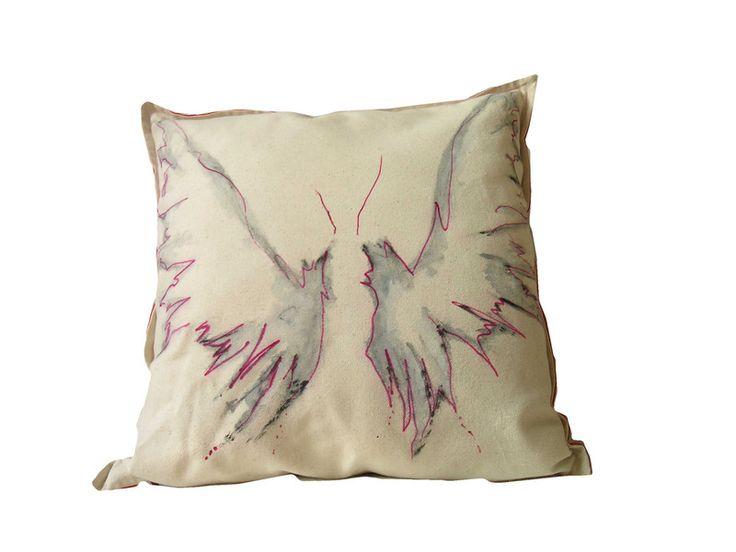 Skrzydła+Anielskie+ręcznie+malowane+45x45+w+W.pelni+Design+na+DaWanda.com
