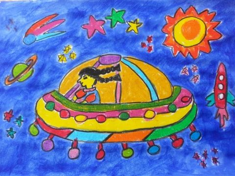 2014 Winner - 1st Place, Category: Age 3-4 years, Armeen Jafry, Rongdhonu Art Academy, Dhaka, Bangladesh