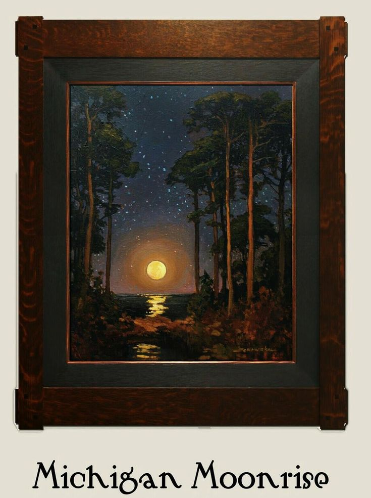 """Michigan Moonrise"" 