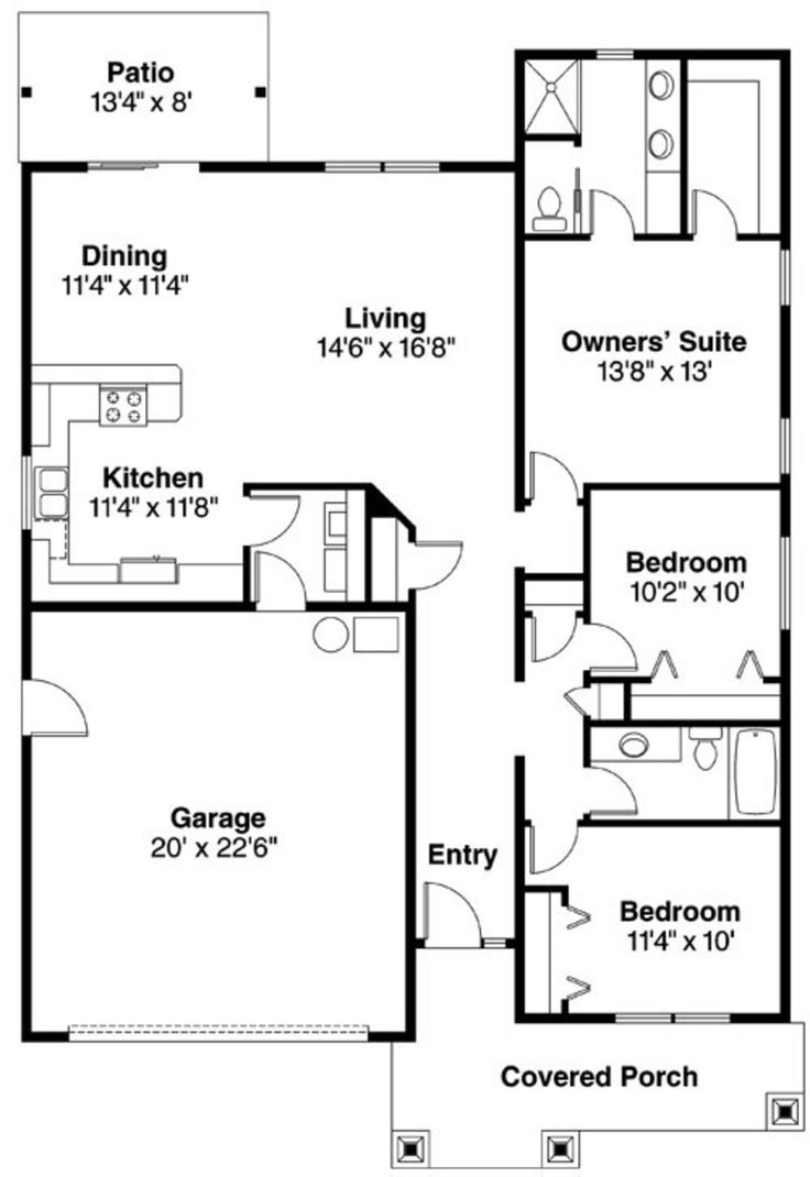 16 best house plans images on pinterest floor plans for 1500 sq ft bungalow house plans