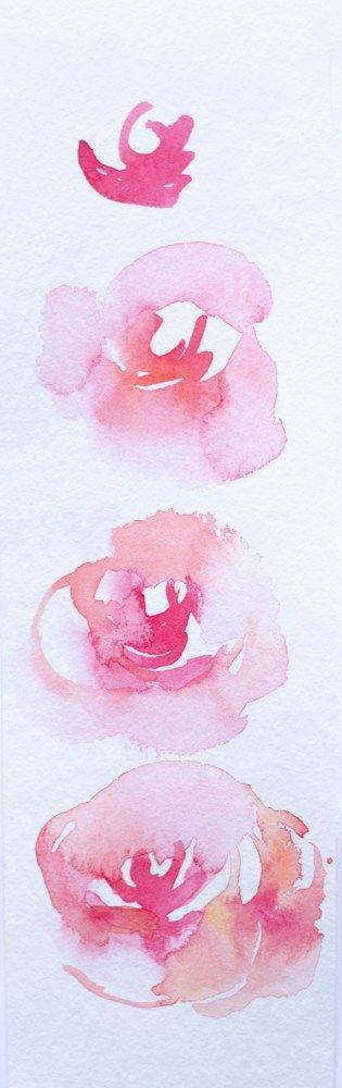 Créer un bouquet à l'aquarelle