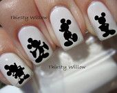 Mickey Mouse Silhouette Nail Decals