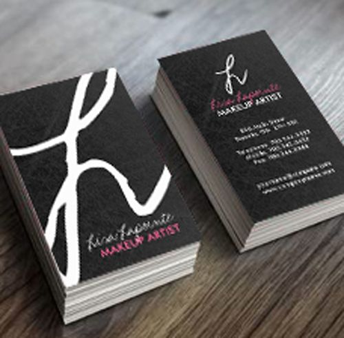 Fully customizable monogram business cards created by Colourful Designs Inc.