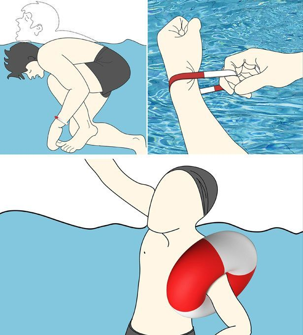 Self Rescue Bracelet is a great floating device for swimmers, especially when you usually swim alone.