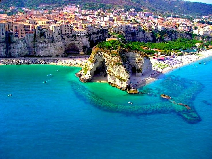 Pizzo, Calabria, Italy-- look at those amazing cliffs!