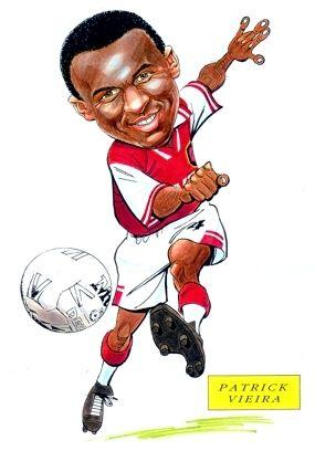 Arsenal FC Patrick Vieira Caricature
