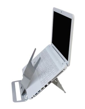 ergonomic cafe echo super thin laser cut laptop stand with optimized document support