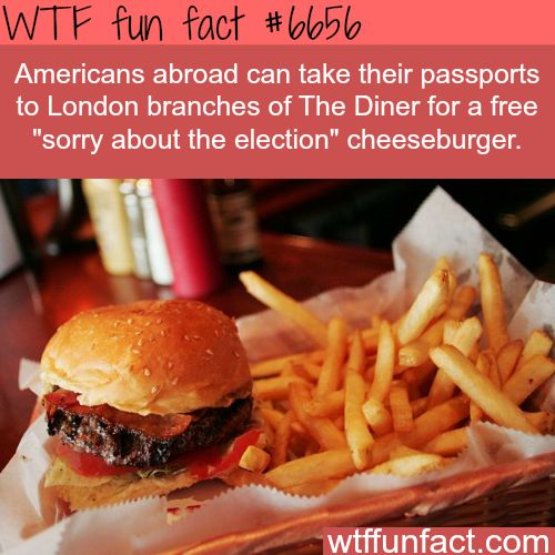 You can get a free cheeseburger if you are American in London - WTF fun fact