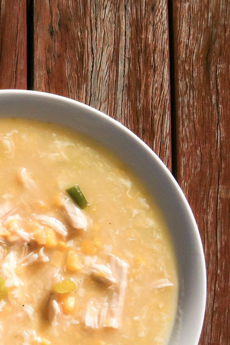 Chicken and Corn Soup - A classic traditional Chinese/Malaysian soup. A winter favourite.