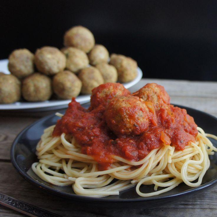 Spaghetti aux boulettes de tofu