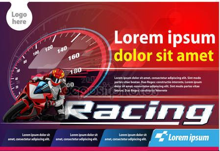 Horizontal poster or print ads motor cycle racing event — Stock Vector © msjeje #138809762