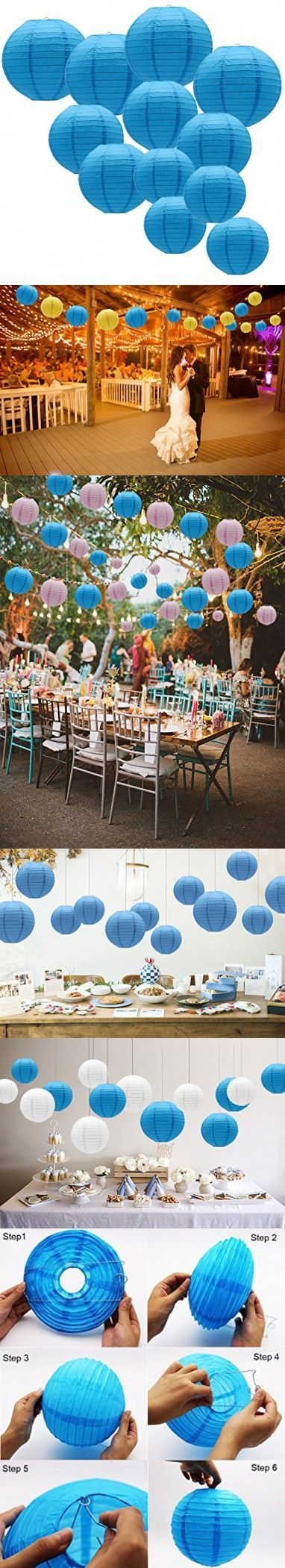 KAXIXI #Round #Hanging #Paper #Lanterns #Decorations #for #Wedding #Birthday #Baby #Showers #...