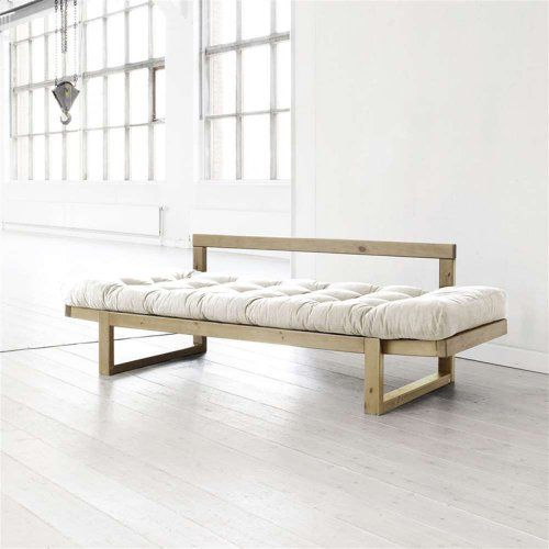 Fresh Futon Edge Natural Wood Convertible Futon Sofa