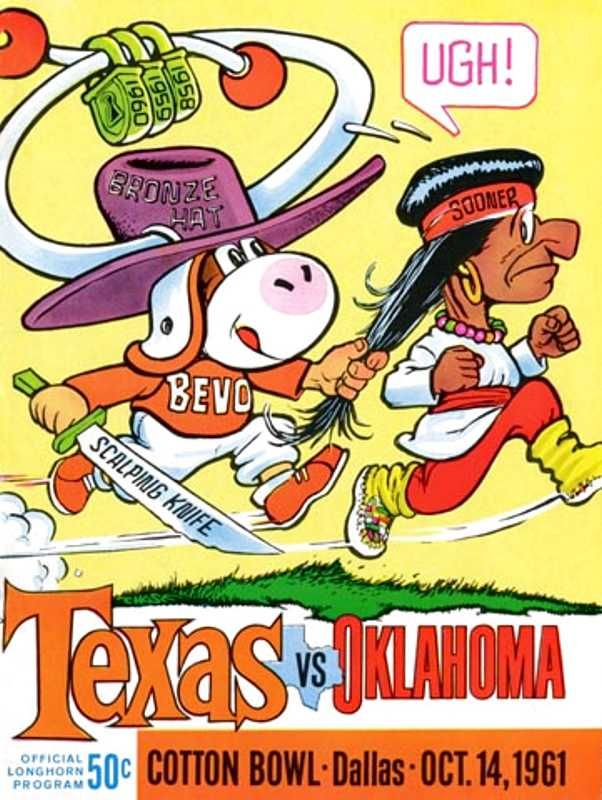 1961 Game Program between University of Texas and OU