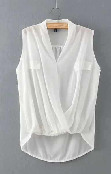 Wavy Sleeveless Blouse – Trendy Road