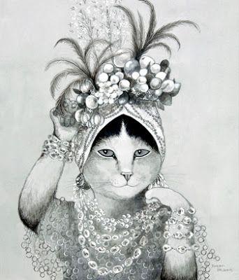Coisas de Ada: Gatos antropomórficos de Susan Herbert