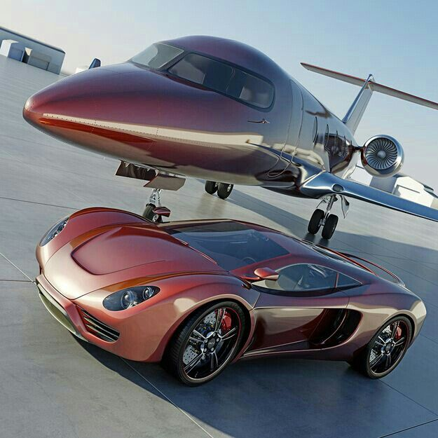 Plane and Sports Car