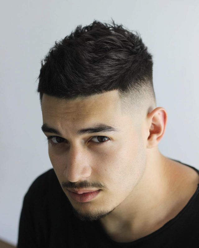 Short Spiky With Sharp Fade 1 With Images Mens Hairstyles