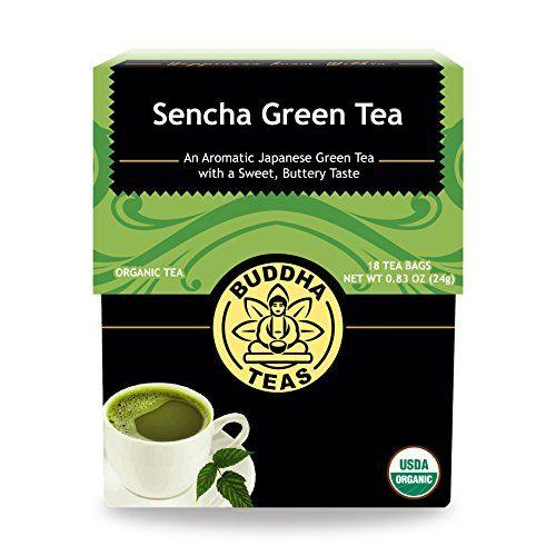 Organic Japanese Sencha Green Tea - Antioxidant Tea, Kosher, Contains Caffeine, GMO-Free - 18 Bleach Free Tea Bags * You can get additional details at the image link.