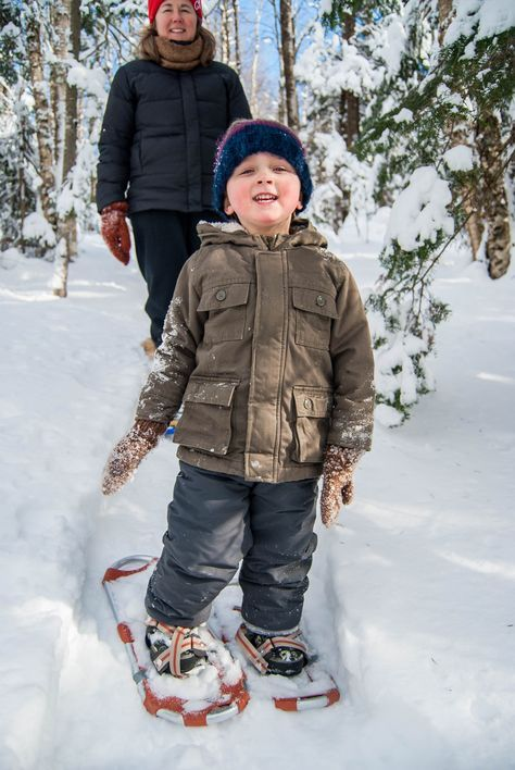 Snowshoeing with toddlers and young kids / Snowshoe Magazine