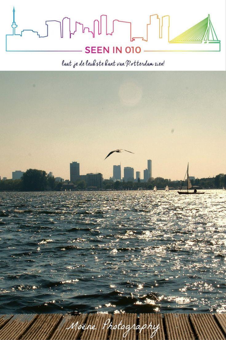 Kralingse Plas met uitzicht op Rotterdam Skyline   #Rotterdam #Kralingen #Kralingseplas #Skyline #Uitzicht #Seenin010