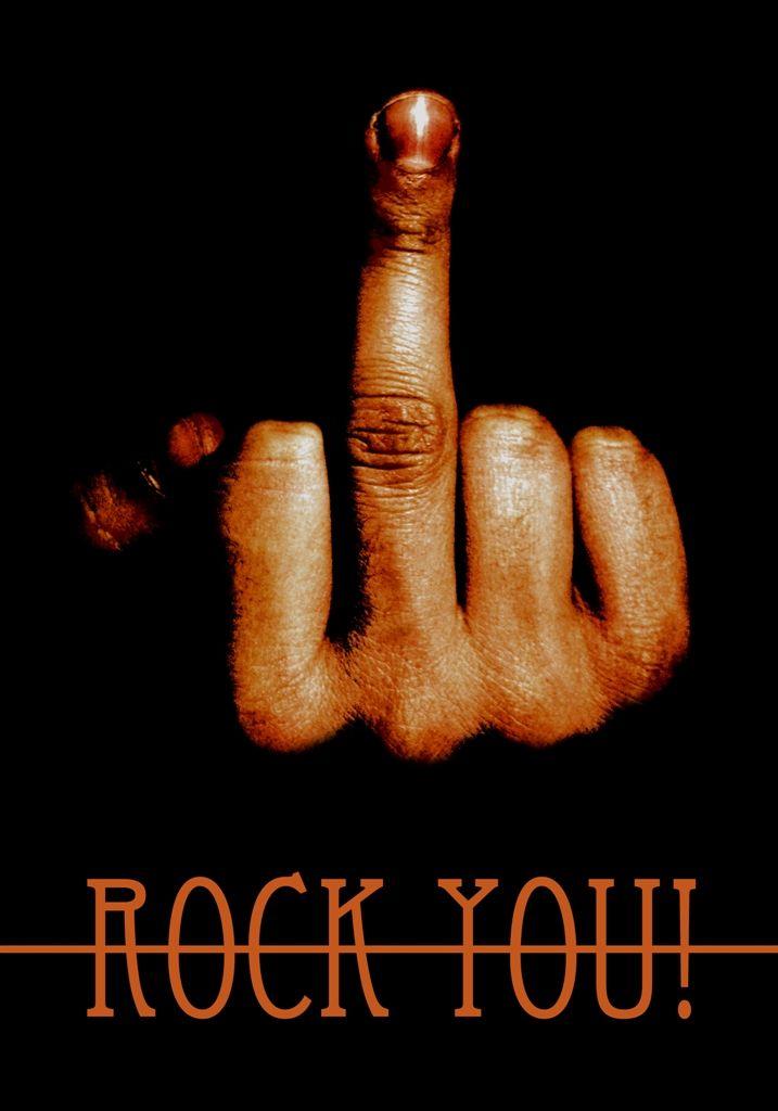 plakat muzyczny / music poster / rock you / Justyna Hajduk
