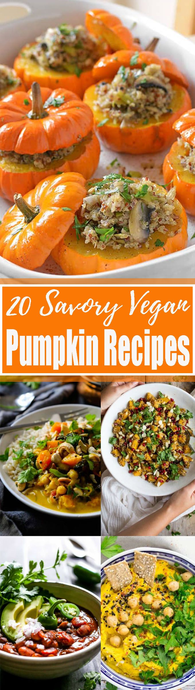 35 Stunning Vegan Pumpkin Recipes You Need To Try This Fall!! Yaay! Pumpkin season is finally here! I'm a real pumpkin addict, so I just had to put together a massive roundup of delicious vegan pumpkin recipes. <3 | veganheaven.org