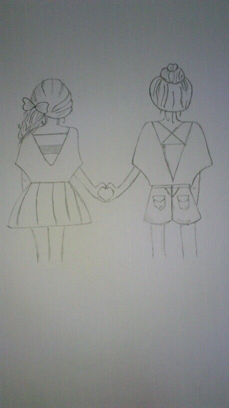 Best friends....drawing by me