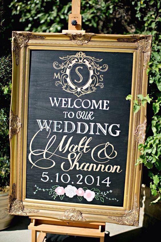 Cute welcome sign #vintagewedding #weddingideas #weddingsigns #wedding ❤️ http://www.deerpearlflowers.com/vintage-welcome-wedding-sign-ideas/2/
