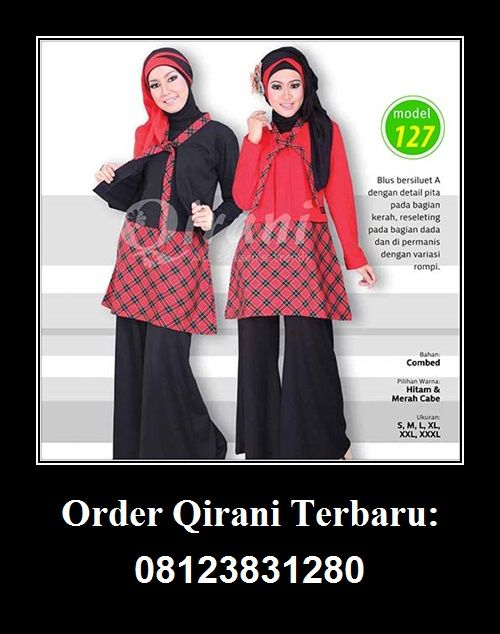 Baju Qirani atasan model 127,  Hubungi : Whatsapp : +62 812-3831-280 SMS : +62 812-3831-280 BBM : 5F03DE1D