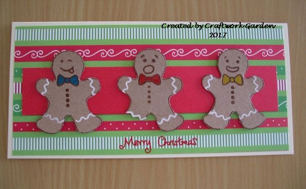 Gingerbread Fun card made using Hunkydory Crafts For The Love of Stamps.
