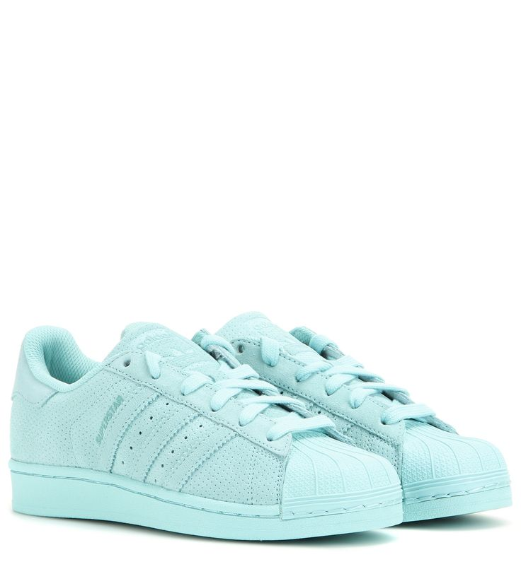Superstar turquoise leather sneakers