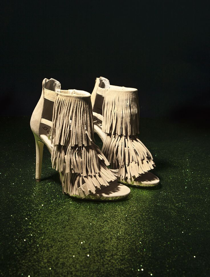 Fringe doesn't get more fabulous than these high heeled beauties.